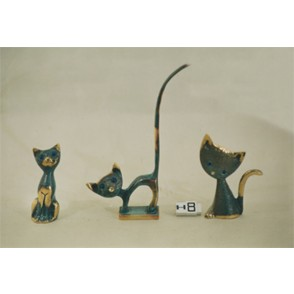 AG3747 - SET OF 3 assorted CATS  HOMERE - HOMERE