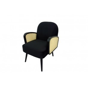 AT1050 - BLACK CANNAGE ARMCHAIR - CONFORT