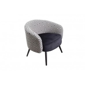 AT1059 - CONTEMPORARY ARMCHAIR BLACK/WHITE - CONFORT