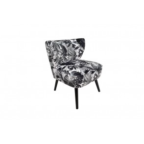 AT1060 - LEAVES ARMCHAIR BLACK/WHITE - CONFORT