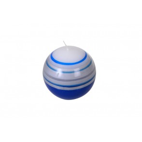 BJ3296 - BLUE NAVY STRIPED BOWL CANDLE - FLAM&CO
