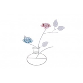 BJ3326 - CANDLE HOLDER ROSES CUP - LYSANDRA