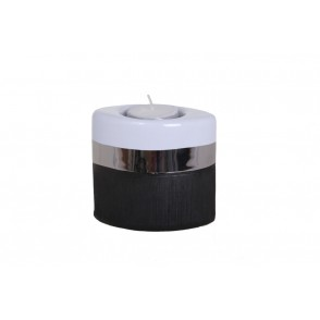 DT2513 - CANDLE HOLDER SILVER STRIP - EQUINOXE