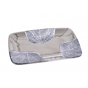 DT2696 - RIBBED PLATE WHITE/SILVER - EQUINOXE