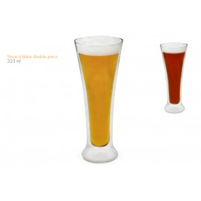 FIH287 - DOUBLE WALL BEER GLASS 325 ML - VIN BOUQUET