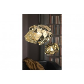 LV2027 - CEILING LAMP WITH METAL/GOLDEN FACETS - ONLI