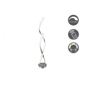 LV2104 - ANODIZED GREY DOUBLE SPIRAL FLOOR LAMP - INTERIOR