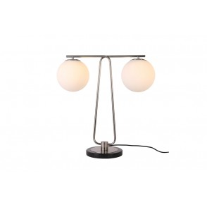 LV2110 - SPHERE TABLE LAMP BALANCE STYLE SILVER COLOR - INTERIOR