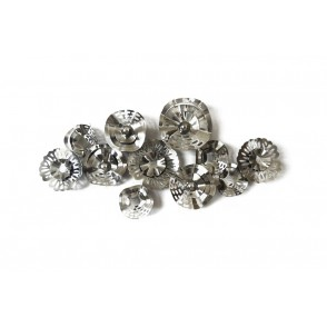 MD4603 - SILVER STRUCTURE SCALLOPED DISCS - BEAUX-ARTS