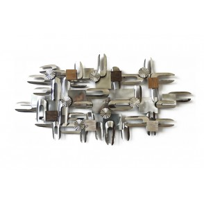 MD4604 - METAL AND WOODEN SILVER STRUCTURE - BEAUX-ARTS