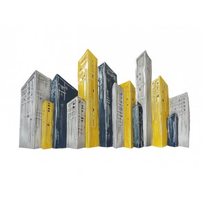 MD4883 - BUILDINGS CITY YELLOW GREY COLOR - BEAUX-ARTS
