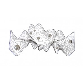 MD4909 - ABSTRACT SHAPE WITH METAL BOWLS - BEAUX-ARTS