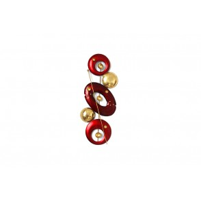 MD4933 - DISCS AND CIRCLES RED/BLACK/GOLD VERTICAL SHAPE - BEAUX-ARTS