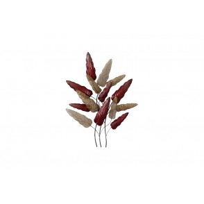 MD4935 - LEAVES RED/GOLD - BEAUX-ARTS