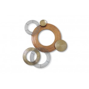 MD4939 - DISCS ROSE/YELLOW/SILVER GOLD MEDIUM SIZE - BEAUX-ARTS