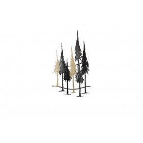 MD4940 - FOREST TREES BLACK/SILVER/GOLD - BEAUX-ARTS
