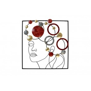 MD5001 - FACE WITH RED / GRAY / GOLD DISCS - BEAUX-ARTS