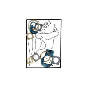 MD5002 - FACE WITH BLUE / GRAY / GOLD INSERTS - BEAUX-ARTS