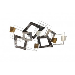 MD5010 - DESTRUCTURED RECTANGLES GREY/GOLD - BEAUX-ARTS
