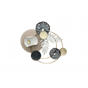 MD5024 - DISCS AND CIRCLES BAY LEAVES BLACK/GOLD/WHITE - BEAUX-ARTS