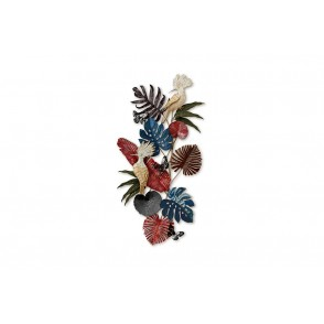 MD5027 - TROPICAL LEAVES AND BIRDS VERTICAL WAY - BEAUX-ARTS