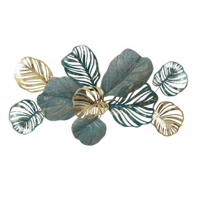 MD5030 - DELICATE LEAVES XL SIZE BLUE/GOLD - BEAUX-ARTS