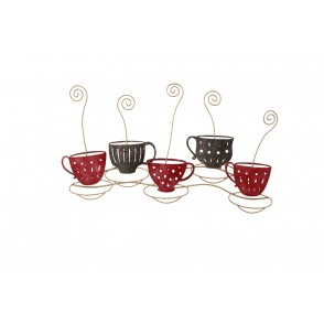 MD5032 - SMOKING COFFEE CUPS BLACK/RED - BEAUX-ARTS