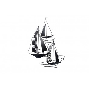 MD5036 - SAILING BOATS X3 WITH CUT SAIL VERTICAL WAY - BEAUX-ARTS