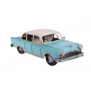 MD6214 - VINTAGE MUSTANG CAR BLUE/WHITE - RETRO