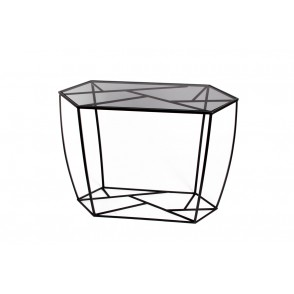 MM01226 - CONSOLE TABLE SMOKED GLASS - ELECTROCHIC