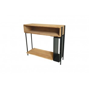MM01390 - CONSOLE TABLE WOOD/METAL BLACK - STAX