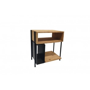 MM01391 - SIDE TABLE 3 NICHES WOOD/METAL - STAX