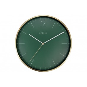 NT_3252GN - NEXTIME WALL CLOCK GREEN COL. ESSENTIAL GOLD - NEXTIME