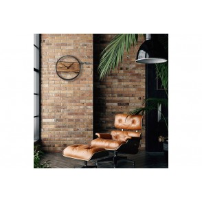 NT_3263BR - WOODEN WALL CLOCK - SILENT - 45CM - WOOD/ METAL - NEXTIME