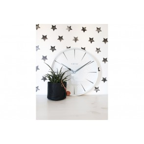 NT_3511WI - NEXTIME WALL CLOCK WHITE COL. 2 SECONDS - NEXTIME