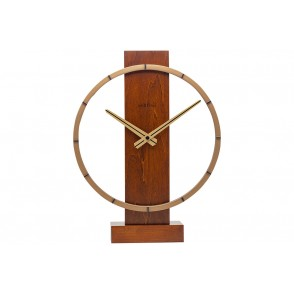 NT_5226BR - NEXTIME TABLE/WALL CLOCK BROWN CARL SMALL - NEXTIME