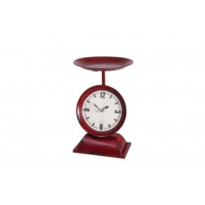 PE1821 - CLOCK RED INDUSTRIAL SCALE STYLE - TEMPO