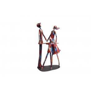 SD1070 - METAL SCULPTURE FAMILY TOGETHER - PIGMENT