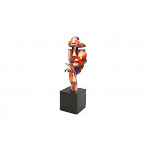 SD1077 - METAL SCULPTURE THINKING FACE - PIGMENT