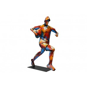SD1103 - METAL SCULPTURE RUGBY PLAYER - PIGMENT
