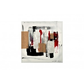TA5431 - ABSTRACT PAINTING METAL AND JUTE 70*70 - GALLERY