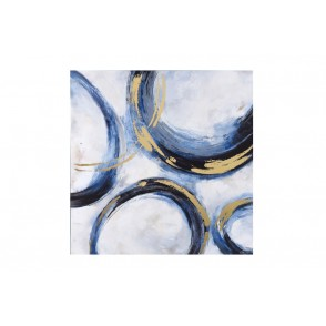 TA5454 - ABSTRACT PAINTING WITH CIRCLES BLUE/GOLD 100*100 - GALLERY