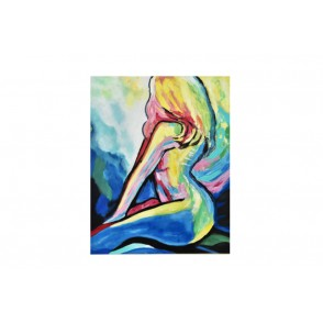 TA5477 - PROFILE OF NAKED WOMAN ARTY STYLE 80*100 - GALLERY
