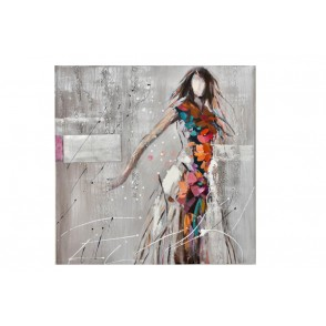 TA5478 - WOMAN IN MOVEMENT COLORFUL DRESS 100*100 - GALLERY