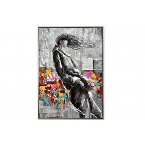 TA5480 - WOMAN WITH HAIR IN THE WIND MULTICOLOR 100*70 - GALLERY