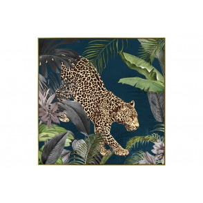 TA5573 - PANTHER IN THE JUNGLE GOLD FRAME 100*100 - GALLERY