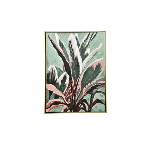 TA5585 - PAINTING CALATHEA PLANT 80*60 GOLD FRAME - GALLERY