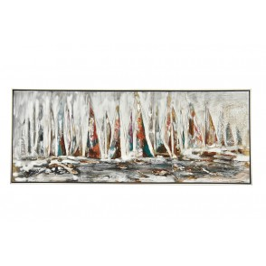 TA5587 - PAINTING SAIL BOATS  40*120 SILVER FRAME - GALLERY