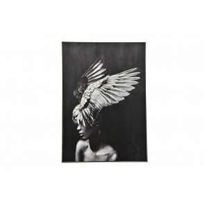 TA5600 - PAINTING WOMAN WITH WINGS  100*70 SILVER FRAME - GALLERY