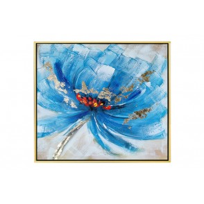 TA5627 - PAINTING BLUE FLOWER 60*60 GOLD FRAME - GALLERY